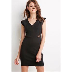 Mini Dress with Mesh Cutouts